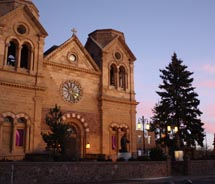 The Cathedral Basilica of Saint Francis of Assisi will host a special Christmas Eve mass this holiday season. // © 2010 Deanna Ting