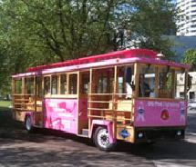 Big Pink Sightseeing provides city tours with hop-on/hop-off service // © 2011 Big Pink Sightseeing Tours