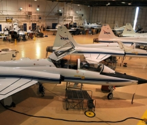 NASA's T-38s are parked inside a maintenance hangar at Ellington Field, Texas // (c) 2008 U.S. Air Force/Staff Sgt. Desiree N. Palacios