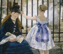 "Édouard Manet's ""The Railway (1873)"" oil painting will be on display  during the French impressionists exhibit at Museum of Fine Arts,  Houston. // ©..."