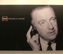 The exhibit chronicles the career of long-time CBS anchor Walter Cronkite. // © 2010 Lyndon B. Johnson Library