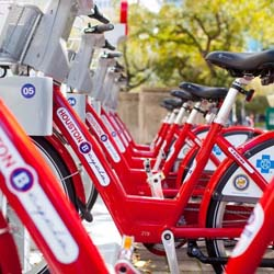 Houston's B-Cycle program now includes a total of 21 bike racks from Montrose to the Museum District. // © 2013 B-Cycle