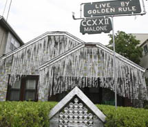 At Houston's Beer Can House, visitors can see John Milkovisch's folk art legend, a house made up of more than 50,000 beer cans.  // © 2012...