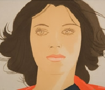 This 1977 portrait of poet Ann Lauterbach by artist Alex Katz is one of the many works currently on display at the Utah Museum of Fine Art. // © 2010...