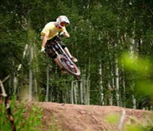 This month, Canyons introduced an all-new mountain bike park. // © 2011 Canyons Resort