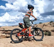 The mountain biking trails of Moab, Utah, are suitable for all experience levels.  // © 2011 Moab Adventure Center