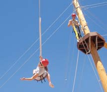 The new Moab high ropes challenge course hopes to draw meeting planners from around the West looking for group team-building activities.  // © 2012...