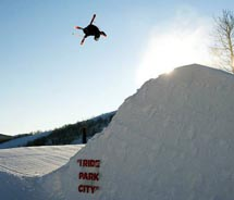 With Park City's new freestyle camp, students can master tricks and jumps — and learn how to edit a digital video of their work. // © 2012 Rob...