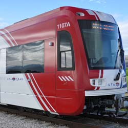 Salt Lake City International Airport's TRAX Green Line extension is ready for use. // © 2012 Utah Chamber of Commerce