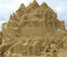 During the Utah Arts Festival, sand artist Ted Seibert will create a giant sculpture out of 20 tons of sand.  // © 2012 Utah Arts Festival