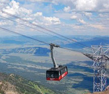 Visitors can hike from Jackson Hole Mountain Resort's aerial tram in the summer months. // © 2012 Jackson Hole Mountain Resort