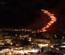 Torchlight parades are a New Year's Eve tradition // © 2011 Wyoming Tourism