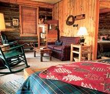 A Riverside Suite at the Vee Bar Guest Ranch // © 2010 Vee Bar Guest Ranch
