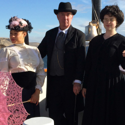 <div>The Legacy crew dresses in period costumes to add to the experience. // © 2013 Un-Cruise Adventures</div>