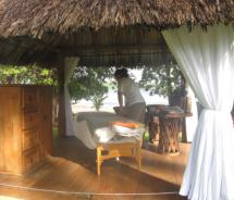 The outdoor massage cabin at Club Med Ixtapa proves to be a worthy retreat for the writer // (c) 2010 Monica Poling
