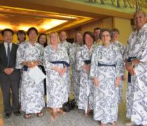 Travel agents on a recent fam to southern Japan // (c) 2011 Donna Johnso