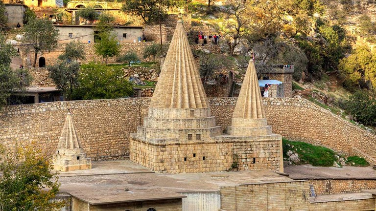 Travelers will visit the Lalish Temple during the Iraqi Kurdistan Adventure with MT Sobek.