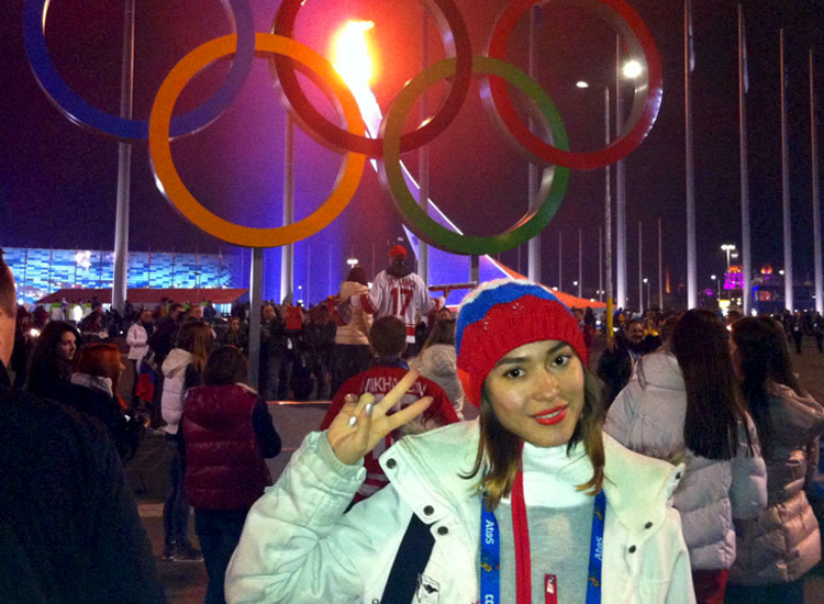 Elvira Akhmadullina from Russian Connections is at the Sochi Olympics, assisting clients who are corporate sponsors with their travel to Sochi. // ©...