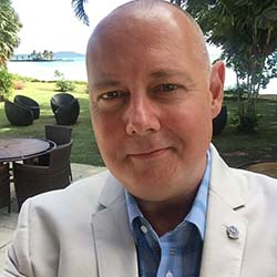 <p>Mark Francis, general manager of Sheraton Samoa Aggie Grey's Hotel & Bungalows // © 2016 Mark Francis</p><p>Feature image (above): Travelers to...