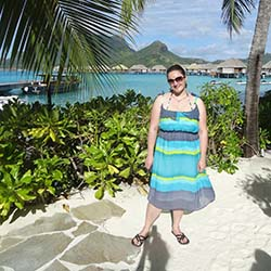 <p>Travel agent Rachel Haile in Bora Bora // © 2014 Rachel Haile</p><p>Feature image (above): Haile sends many of her clients to Rarotonga in the Cook...