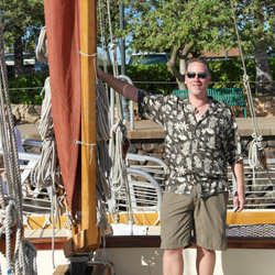 <p>Brian Harris, ready to set sail in Hawaii // © 2014 Brian Harris </p><p>Feature image (above): Lanai is one of many places to explore Hawaii's...
