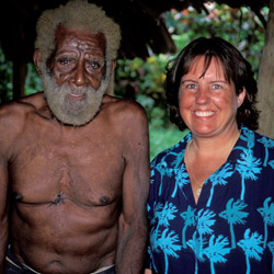 <p>Travel agent Linda Gutekunst in Vanuatu // © 2015 Linda Gutekunst</p><p>Feature image (above): Gutekunst counts the island nation of Vanuatu among...