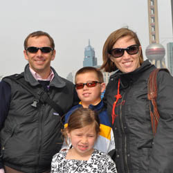 <p>Rachel Dicker and her family in Shanghai, China // © 2015 Rachel Dicker</p><p>Feature image (above): Dicker recommends that World War II buffs...