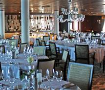 Windstar's CEO Hans Birkholz believes that the fleet-wide refit is best exemplified in the newly-christened Amphora Restaurant. // © 2012 Mindy Poder