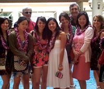 The staff of AskAbout Travel.com at Grand Wailea Resort during its recent Maui fam trip // © 2011 Askabouttravel.com