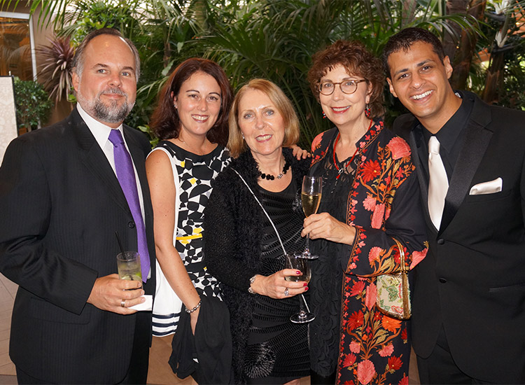 Jonathan Alder, a Trendsetter Winner (Far Right) with friends