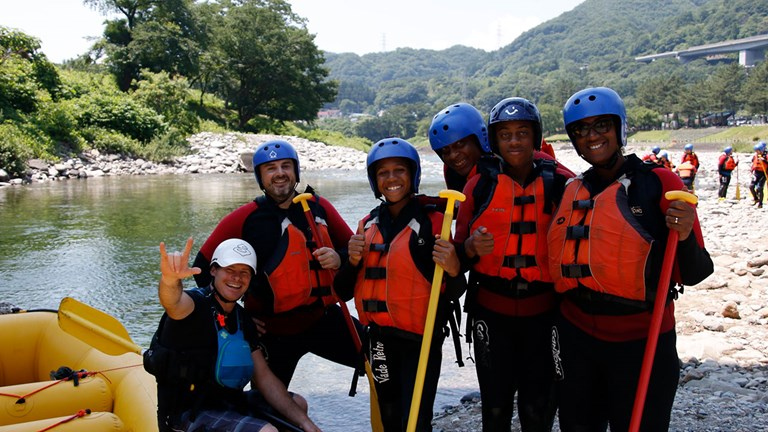 While in Minakami, the outdoor adventure capital of Japan, the writer and her family booked a day of rafting with operator Canyons.
