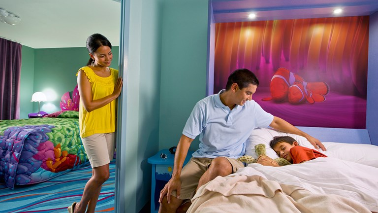 Disney's Art of Animation Resort features themed family suites inspired Disney-Pixar films including Finding Nemo.