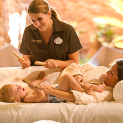 Family spa outings are a popular activity on Oahu // © 2014 Disney
