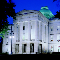 North Carolina's state capitol at night // © 2014 Greater Raleigh Convention and Visitors Bureau