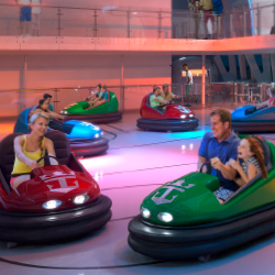 <p>Quantum Class ships feature a bumper-car arena. // © 2014 Royal Caribbean International</p><p>Feature image (above): Royal Caribbean's new Quantum...