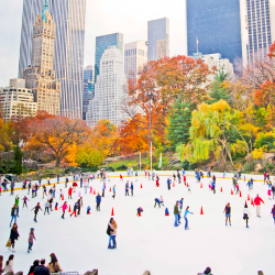 <p>Families can ice skate in Central Park's Wollman Rink, located across from The Pierre.  // © 2014 Thinkstock</p><p>Feature image (above): Ski the...