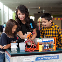 <p>Seattle's Pacific Science Center has many hands-on exhibits. // © 2015 Pacific Science Center</p><p>Feature image (above): Families feel like they...
