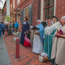 <p>Performers in historic Elfreth's Alley // © 2015 R.Kennedy for Visit Philadelphia</p><p>Feature image (above): Philadelphia's skyline // © 2015...