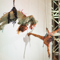 <p>Guests can learn from actual Cirque performers. // © 2015 Club Med</p><p>Feature image (above): The Creactive Playscape features a double trapeze....