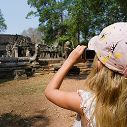 <p>Ancient ruins such as Angkor Wat will stir kids' imaginations. // © 2015 iStock</p><p>Feature image (above): Ta Prohm temple, Cambodia, Angkor // ©...