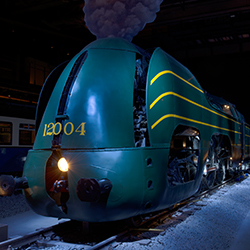 <p>A Type 12 Atlantic locomotive on display at Train World // © 2015 SNCB/NMBS Photographe: Marie-Francoise</p><p>Feature image (above): Trains // ©...