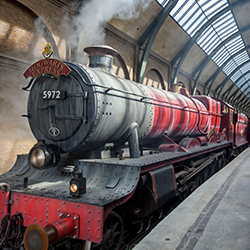 <p>The Hogwarts Express // © 2015 Universal Studios</p><p>Feature image (above): The whole family can wander down Diagon Alley. // © 2015 Universal...