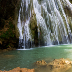 <p>Travelers to the Dominican Republic will find a bounty of waterfalls. // © 2016 iStock</p><p>Feature image (above): The writer and her daughters...