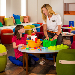 <p>Koningsdam has an onboard kids' club for younger cruisers. // © 2016 Holland America Line</p><p>Feature image (above): Teens ages 13 to 17 can hang...