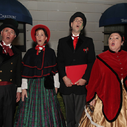 <p>Costumed carolers will sing holiday favorites. // © 2016 The Ritz-Carlton, San Francisco</p><p>Feature image (above): Spend a winter holiday in...