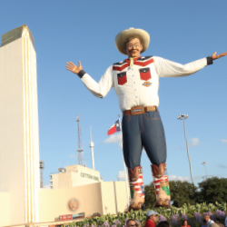 <p>Visitors to Dallas may see Big Tex, a 55-foot statue that serves as an icon for the State Fair of Texas. // © 2016 Dallas Convention and Visitors...