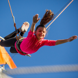 <p>Trapeze is great fun for all ages. // © 2016 The Phoenician, A Luxury Collection Resort</p><p>Feature image (above): Families can feel like they...