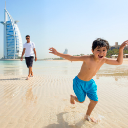 <p>Madinat Jumeirah features a private beach and a kids' club. // © 2016 Dubai Tourism</p><p>Feature image (above): Inside The Dubai Mall, the world's...