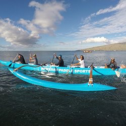 <p>One of Hawaiian Paddle Sports' Outrigger Canoes // © 2016 Hawaiian Paddle Sports</p><p>Feature image (above): Snorkelers might spot turtles on a...