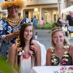 <p>On Hawaii Island, visitors get into the aloha spirit during lei-making classes at The Shops at Mauna Lani. // © 2017 The Shops at Mauna...